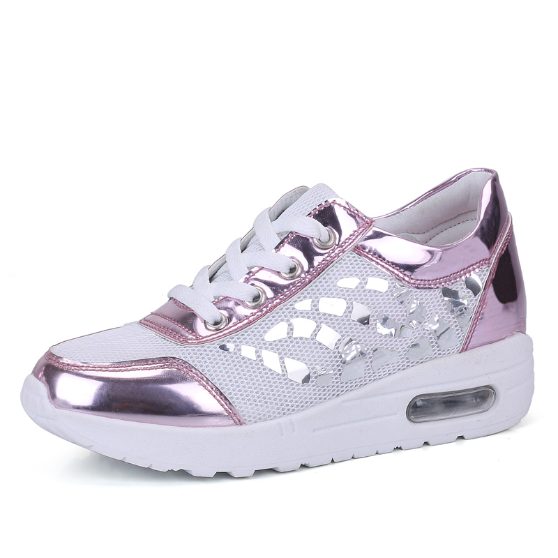 ФОТО Listed on The New 2017 The High Quality Fashion Casual Women Shoes Comfortable Breathable Soft Tenis Feminino Shine Superstar