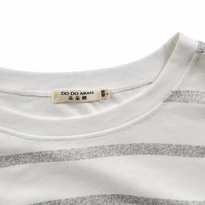 Image 5 - Pajama Set Cotton Gray Striped O neck Sleepwear Couple Home Clothes Plus Size High Quality Male Underwear Set 2020