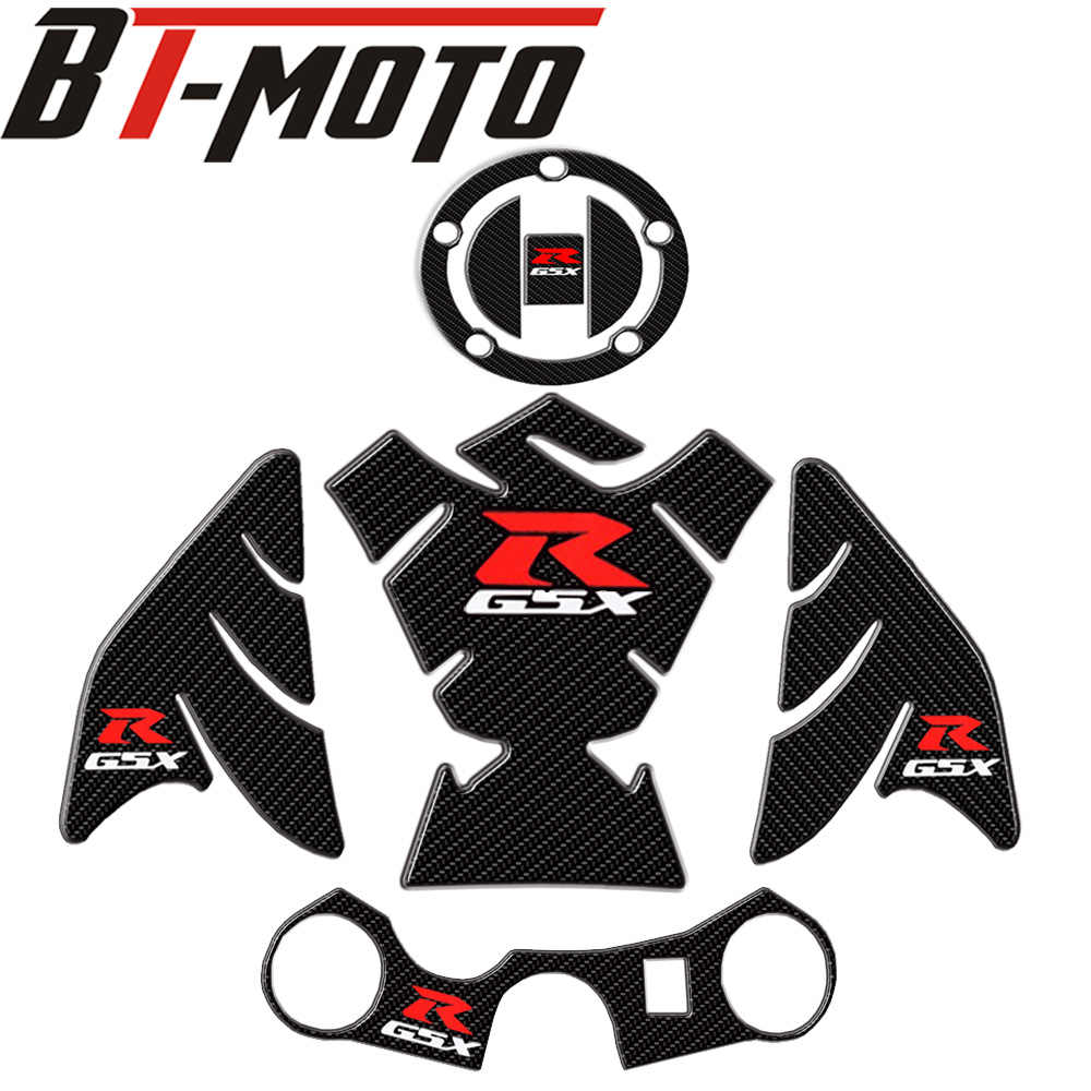 Motorcycle 3D carbon fiber tank fish bone decoration stickers Fit for Suzuki GSXR 600 750 1000 K1 K3 K4 K5 K6 K7 K8 K9