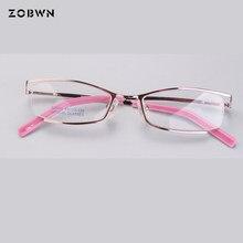 Semi-aro da Armação de óculos Mulheres Homens Vidros do Olho Óptico Óculos  de Armação Para Óculos de leitura das Mulheres Óculos. 957470e7f2