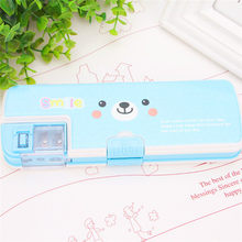 Cute kawaii pencil case multifunction 2 layers pencil box with pencil sharpener school penalty chancery estuche escolar kutusu(China)
