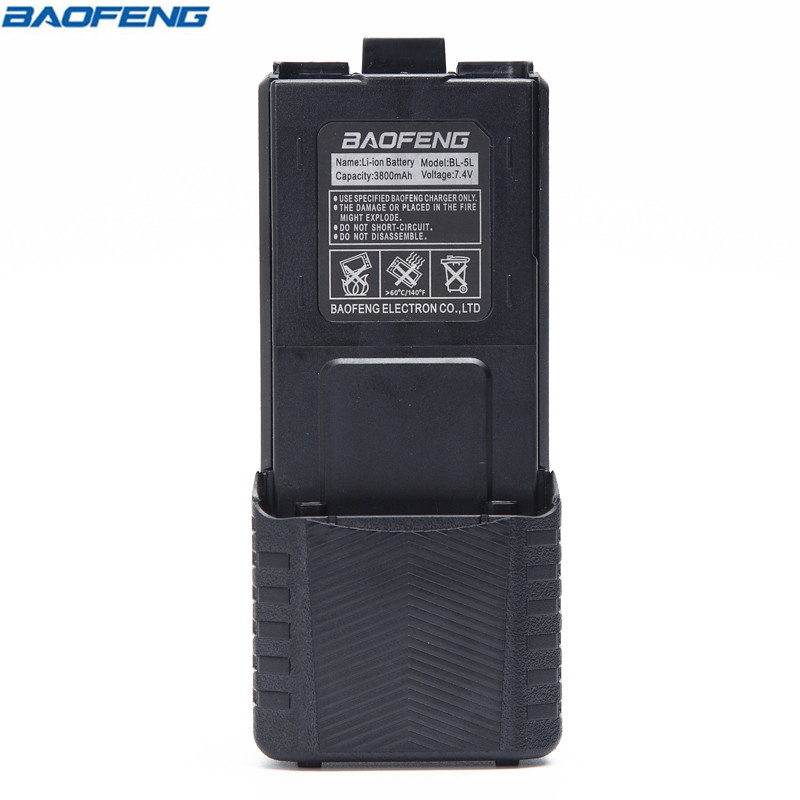 Original BAOFENG UV 5R BL 5L 7 4V 3800mAh Li ion Battery For Baofeng font b