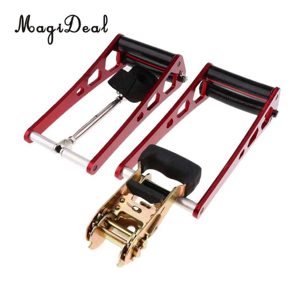MagiDeal Portable Archery Compound Bow Open Accessories Ratchet Loc Press Red