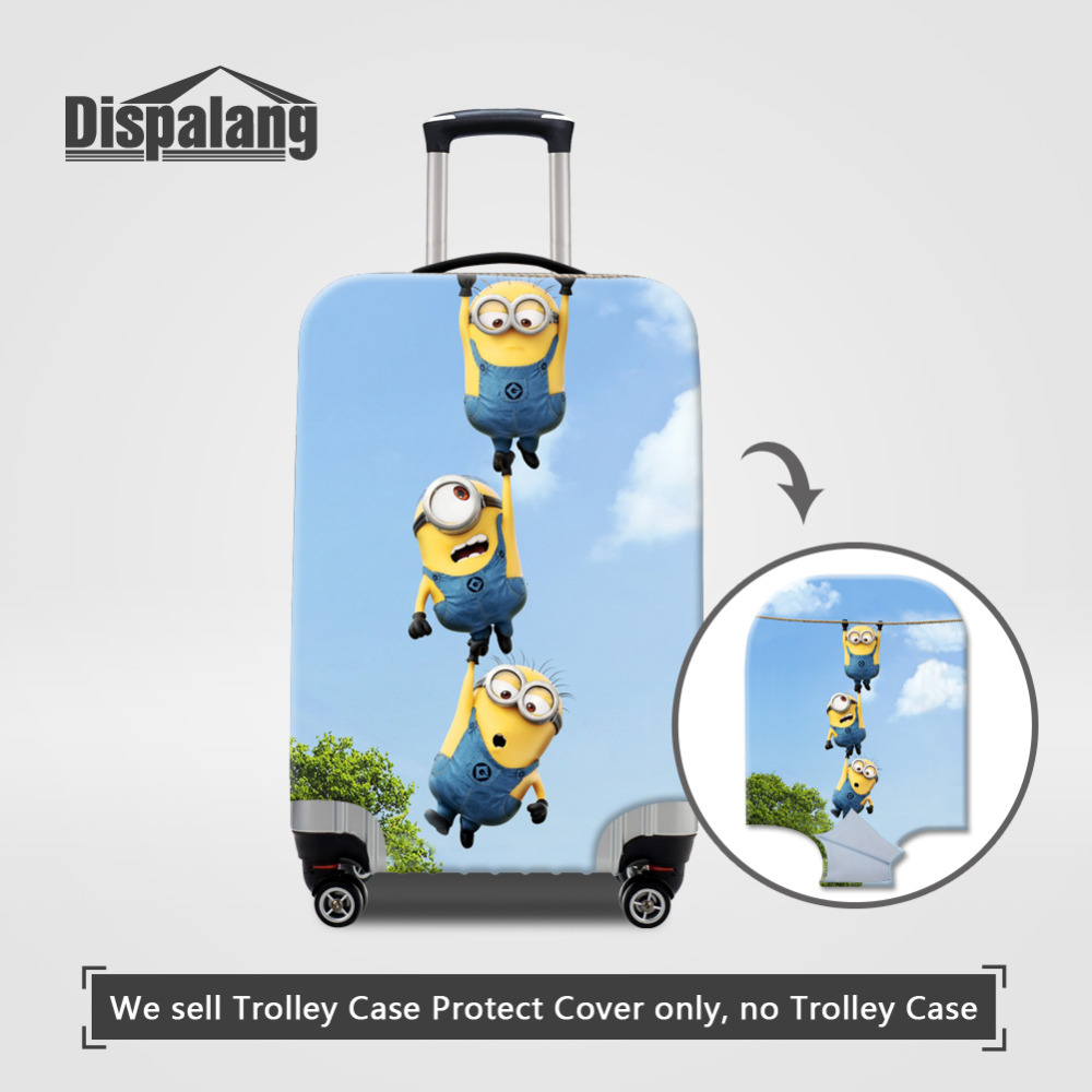 Cartoon Despicable Me Minions Cute Luggage Protective Covers Suitcase Cover (11)