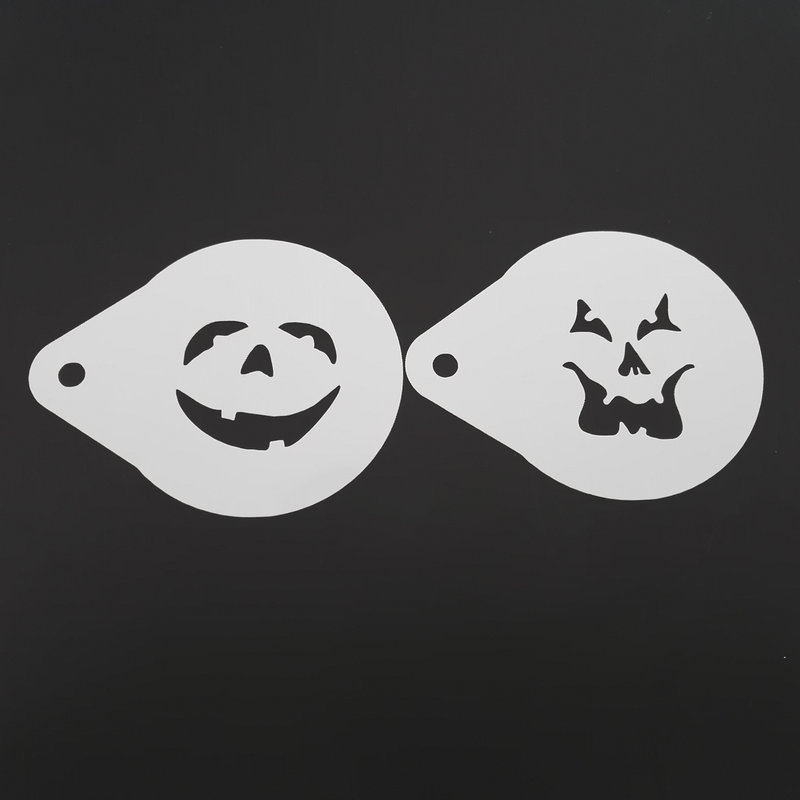 2.8 Inch Hantu Wajah Halloween Kopi Stensil Cookie Latte Art - Dapur, ruang makan, dan bar - Foto 2