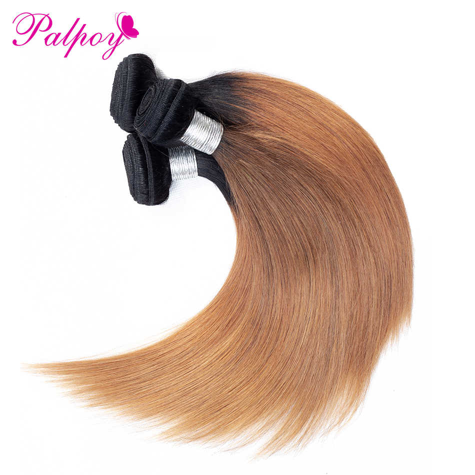 PALPOY Ombre 100% натуральные волосы перуанские прямые пучки волос Ткань T1B/30 Цвет 3 Связки 10-26 дюймов не -Реми бесплатная доставка