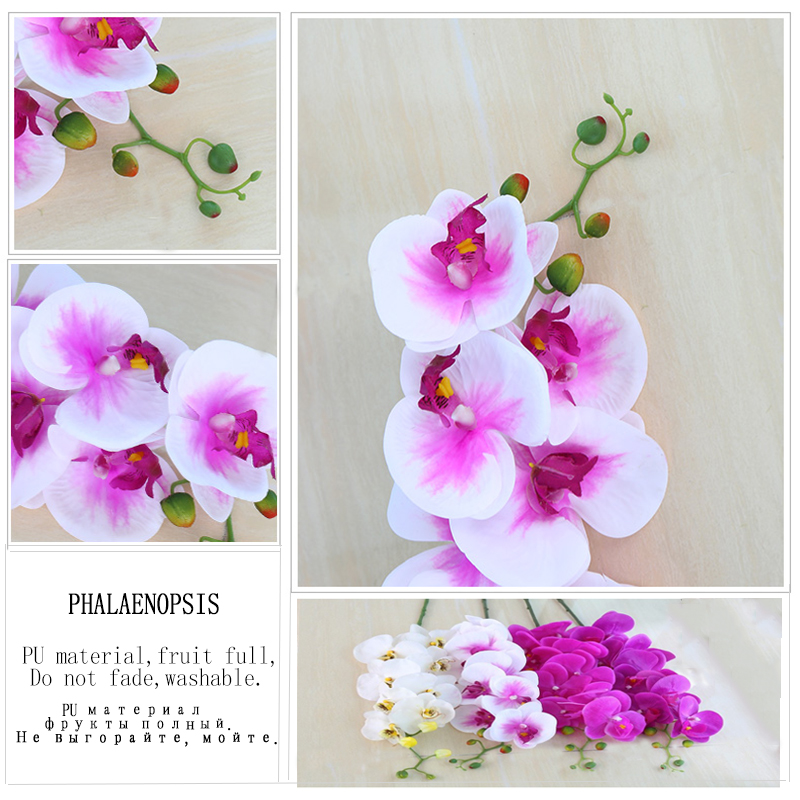 Fashion Orchid Artificial Flowers Bouquet For Wedding And Home Decoration 2