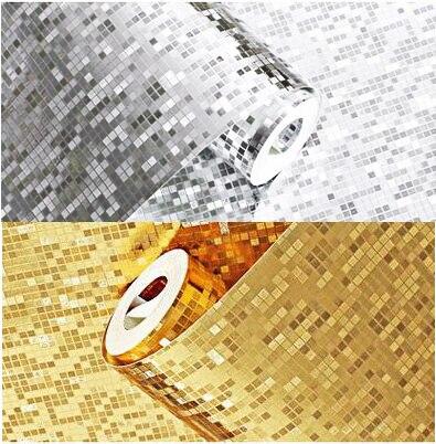 Цвет серебристый, Золотой Фольга стены Бумага Блеск декора Крафт-бумага