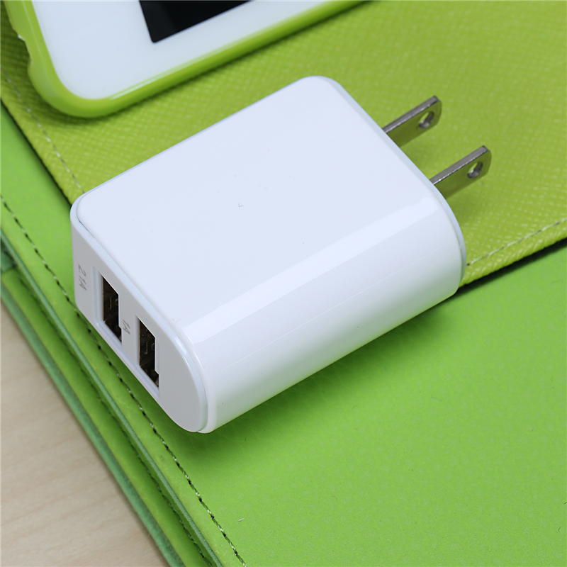 US plug Mobile Phone Charger Dual Port USB Power Adapter 5V 2.1A 1A 3.1A AC Wall Charger Travel Home Power Charger for Laptop