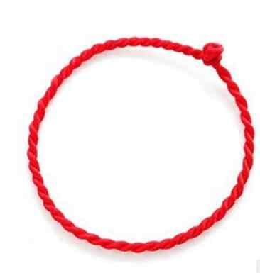 Hot Sale 2019 1PC Fashion Red Thread String Bracelet Lucky Red Green Handmade Rope Bracelet for Women Men Jewelry Lover Couple