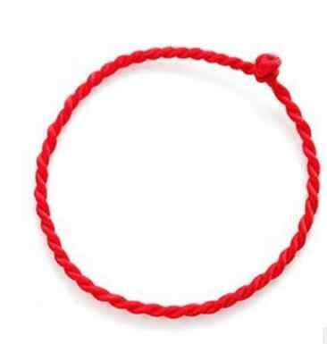 Venta caliente 2019 1 pieza pulsera de cuerda de hilo rojo de moda pulsera de cuerda hecha a mano rojo de la suerte para Mujeres Hombres joyería amante pareja