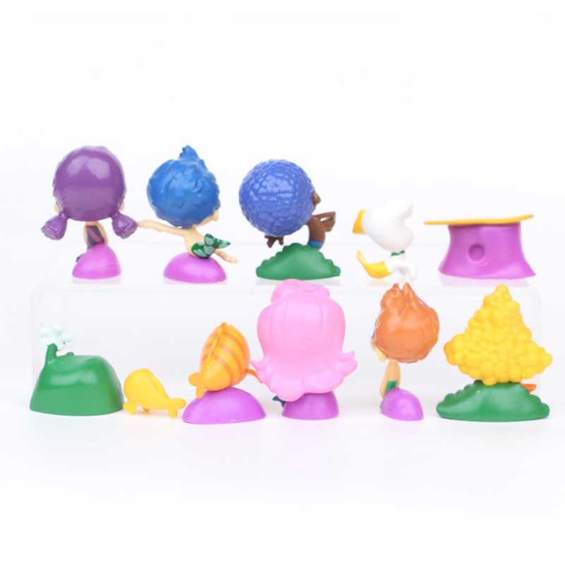 23Sets=276PCS/Lot cartoon Bubble Guppies Bubble Puppy Goby Deema Gil Oona Underwater Scenery PVC Action Figure toys Childs Gift
