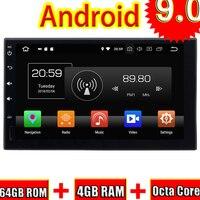 Topnavi Android 9,0 автомобильный медиацентр плеер для универсального 7 дюймов аудио Радио стерео 2 DIN gps навигации без DVD, Octa Core, 4 Гб + 64 ГБ