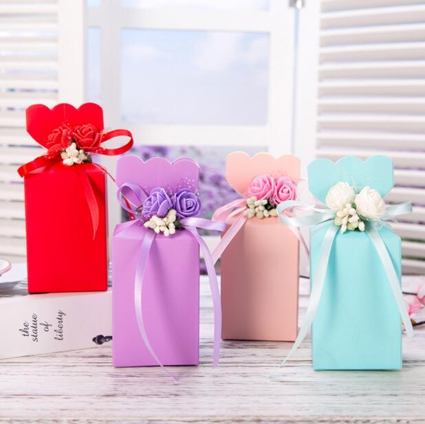 Gunstige Grosse Rosa Blau Hochzeit Sussigkeitskasten Roten Geschenk