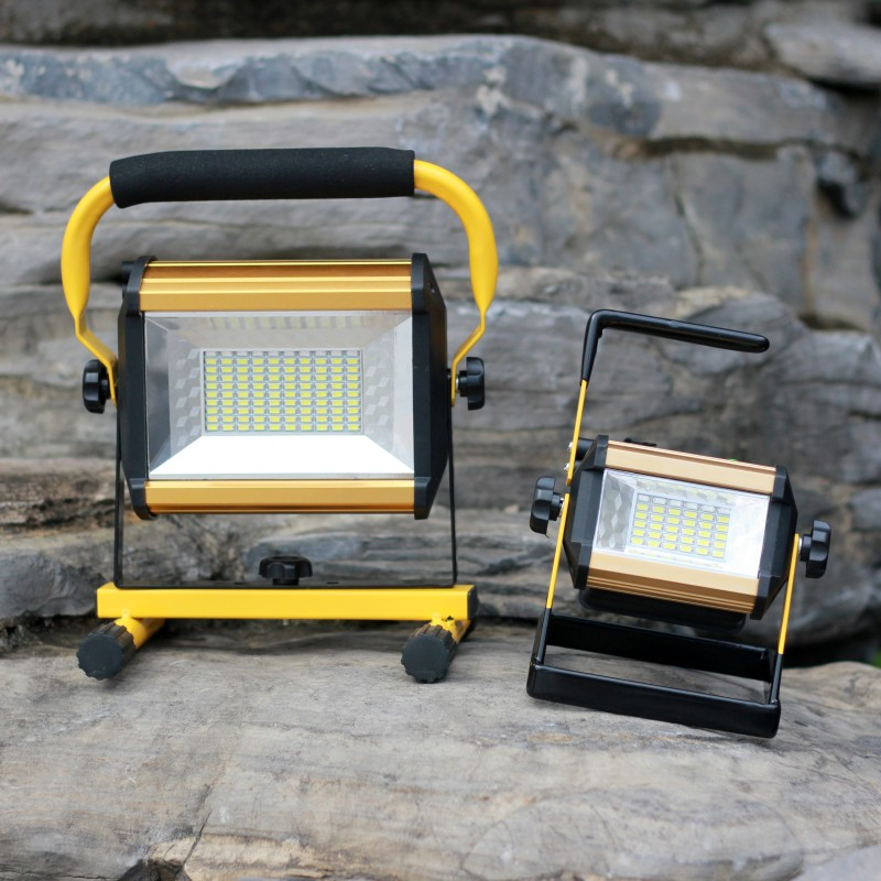 YUPARD 100W 50W flood light Searchlight Spotlight Brightness LED flashlight Outdoor camping 18650 rechargeable battery charger 30% off 2pcs ultrathin led flood light 50w black ac85 265v waterproof ip66 floodlight spotlight outdoor lighting free shipping