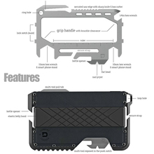 Metal Clip EDC Wallet Tactical Multi-function Card Package Army Fans Equipment