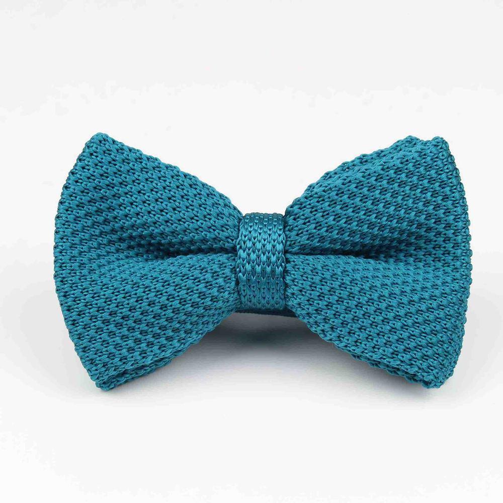Мужские галстуки для шеи, смокинг, вязаная бабочка, Одноцветный галстук-бабочка, толстый двухслойный предварительно завязанный Регулируемый вязаный Повседневный галстук - Цвет: 26