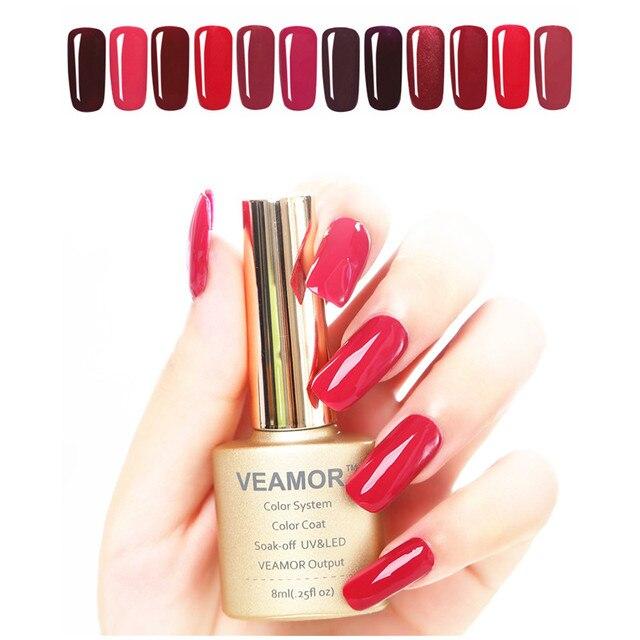 Гель лак для ногтей 8 мл УФ гель Nail Soak Off смолы UV LED ногтей Гель-лак комплект Мода 2017 г. цветов для Распродажа