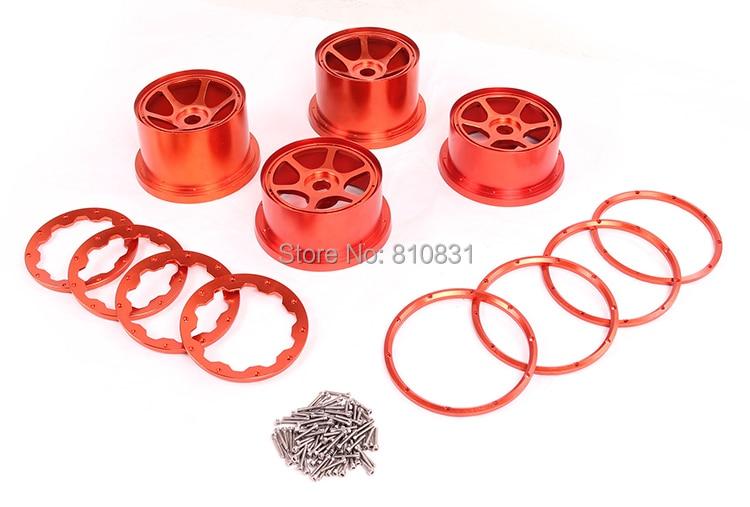 CNC Metal wheel hub assembly For 26cc,29cc,30.5cc hpi  baja Rovan km