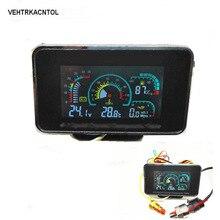 VEHTRKACNTOL 4 функции 12 В/24 В грузовик автомобильный манометр давления масла+ вольт датчик напряжения+ Датчик температуры воды+ датчик топлива
