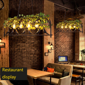 Image 2 - Vintage Bird Pendant Light Iron American Industrial LOFT Bar Cafe Personality E27 Decor Hanging Aisle Nordic Lamp birdcage lamp