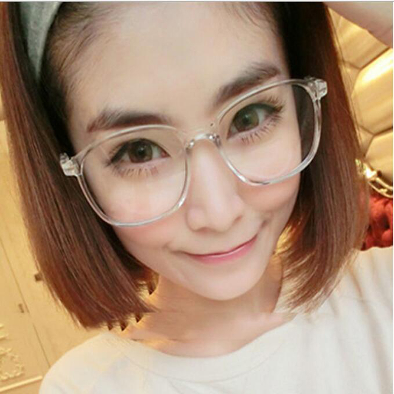 8bf8bb60b3 Fashion Brand Design Retro Big Oversized Frame Eyeglasses Women Men  Computer Eye Glasses Optical spectacle Frame