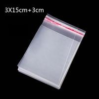 400Pcs3 15 3cm Cm Promotion Price Transparent Cello Bag Clear Resealable Cello Plastic Envelope Small Gift