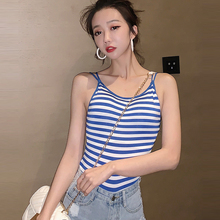 AOSSVIAO Stripe Sexy Crop Top Women Pad Bra Bustier Bralette Solid Padded Camisole Female Ladies Tank Tops 2019 Summer