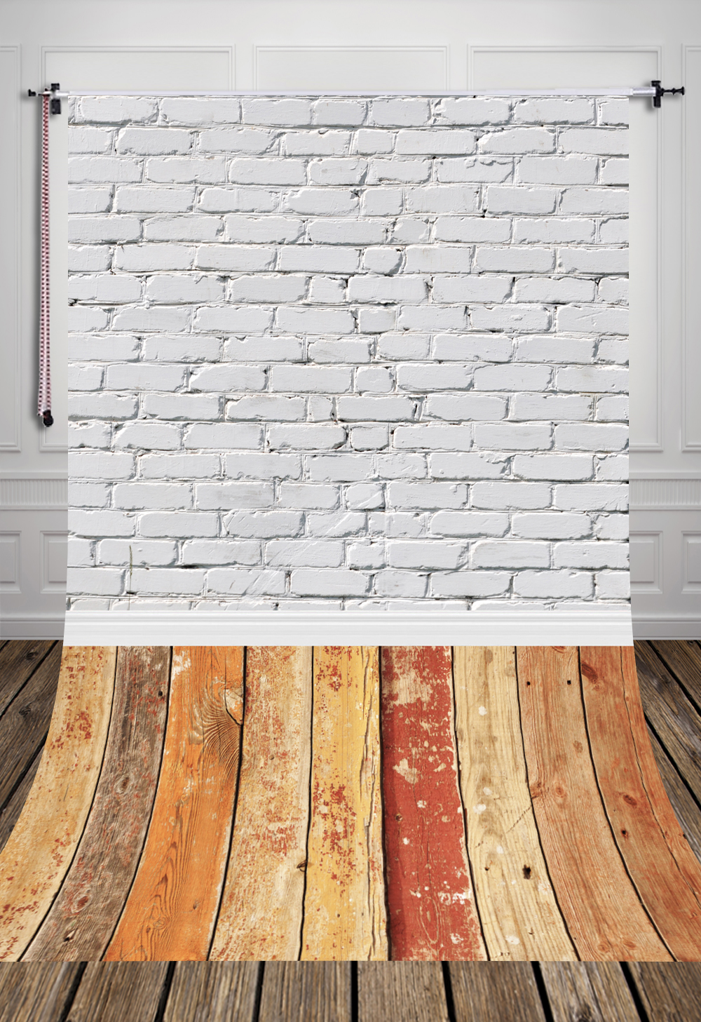 5x7ft (1.5x2.2) Hot sale newborn whie wall wood floor photography backdrop  Art fabric studio photography background D-044 - Wooden Floor Sale Promotion-Shop For Promotional Wooden Floor Sale
