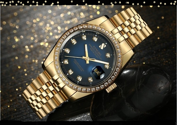 38MM SANGDO men's watch  Automatic Self-Wind movement  High quality Luxury Mechanical watches 328eee original binger mans automatic mechanical wrist watch date display watch self wind steel with gold wheel watches new luxury