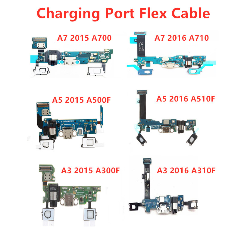 USB Charging Flex Cable With Microphone For Samsung Galaxy A5 2015/2016 SM-A510F A500F A3 A300F A7 A700F Charger Port Ribbon