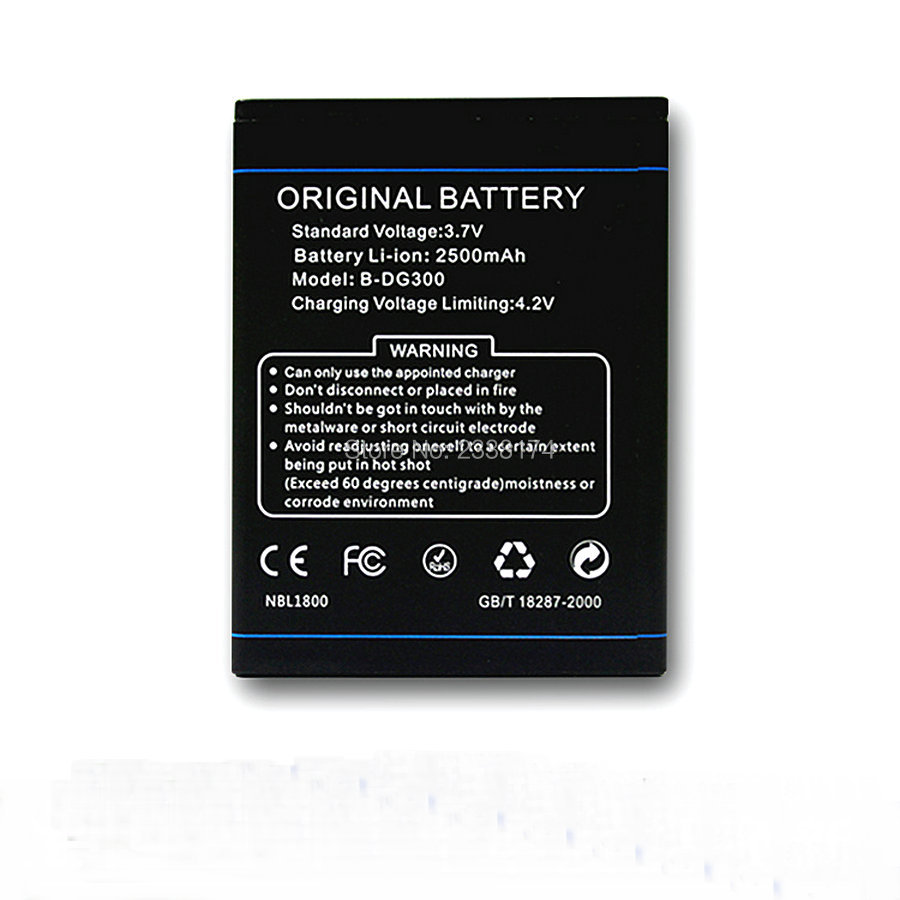 1pcs 100% High Quality B-DG300 2500mAh Battery For DOOGEE VOYAGER DG300 mobile phone Freeshipping + Tracking Code