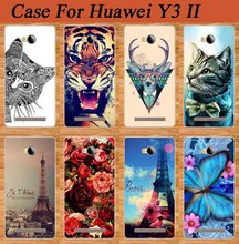 Fashion Cell Phone Case For HUAWEI Y3 II back cover case For HUAWEI Y3 II / Y3 2 / Y3II / 4.5 inch Cartoon pattern Painted Case