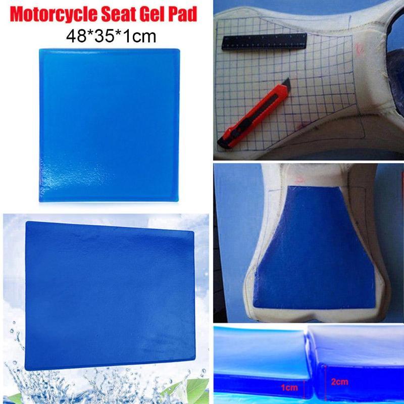 5 tamaños asiento de la motocicleta almohadilla de Gel cómodo cojín suave amortiguación alfombra azul asiento de la motocicleta almohadillas de absorción nuevo