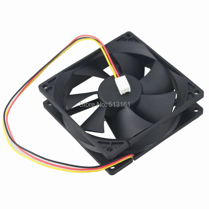 Купить с кэшбэком 5pcs/lot Gdstime 92mm 9cm 92x92x25mm 12V 3Pin 9225 Brushless DC Cooler Cooling Case Fan