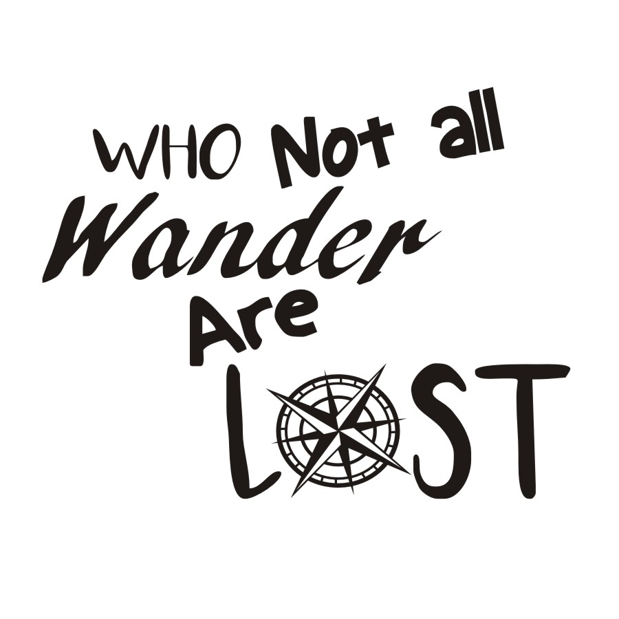 Not All Who Wander Are Lost Wall Stickers Quotes Vinyl Diy Home