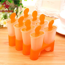 8 Cell Plastic Popsicle Molds for Ice Cream Cooking Tools Kitchen DIY