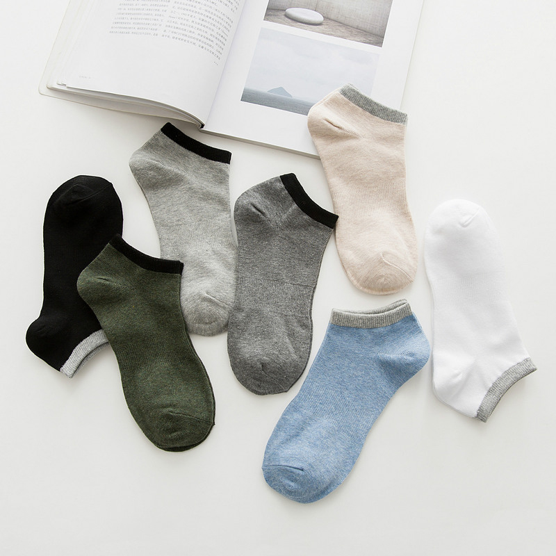 Men Cotton Colorful Casual Summer Short Socks Man Fashion Ankle Socks Male Dress Socks