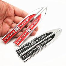 2Pcs/lot JP Junction Produce Car Badge Decal Blade Shape Sticker Fender Side Metal logo for BMW Audi Volkswagen Ford стоимость