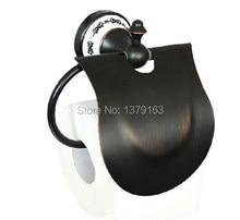 Черный Масло Втирают Латунь Настенные Держатель Туалетной Бумаги Ткани Ролл Стойки Ванной Установки aba058