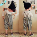 2016 New Baby Girls Harem Pants Boys Kids Striped Trousers Romper Overalls Jumpsuit 0-4T Children's Boys Girls Clothing Sets