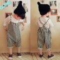 2016 Nuevas Muchachas Del Bebé Harem Pantalones Niños Niños de Rayas Pantalones Guardapolvos Del Mameluco Del Mono 0-4 T de Los Niños Ropa de las muchachas Fija
