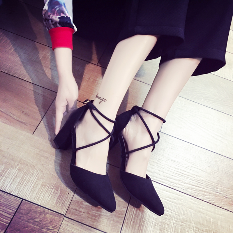 Mazefeng Fashion Summer Women High-heeled Shoes Sexy Style Women Pumps Cross-Tied Ladies Casual Pumps Pointed Toe Square Heels 2018 fashion high heels women brand pumps wedges genuine leather square toe cross tied platform increased straw rome shoes