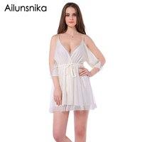 Ailunsnika Summer Dress Women Halter Elegant Sleeveless White Short Dress Patchwork Tunic Vestidos Mujer Jurken Womens