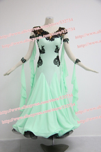 Tailor-Made Elegant ballroom Standard juvenile dance clothing Salsa Tango dance dress elegant comfortable dress B-5007
