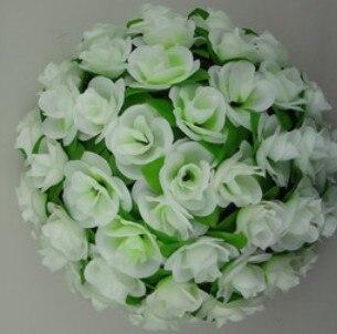 55 см вьющаяся Роза из искусственного шелка(Висячие цветочные шарики для Свадебные украшения - Цвет: Белый