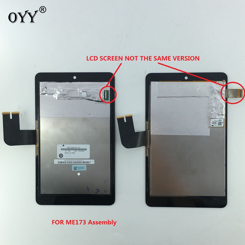 N070ICN -GB1 LD070WX4-SM01 LCD Display Touch Screen Digitizer Glass Assembly For Asus MemoPad HD7 ME173 ME173X K00B two version original 7 for asus memopad hd7 me173 me173x k00b lcd display matric touch screen digitizer sensor full assembly with frame