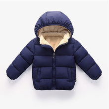 New Children Outerwear Coat Winter Baby Boys Girls Jackets Coat Infant Warm Baby parkas Detachable cap Thick Kids Hooded Clothes(China)