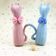 Korea Cute Butterfly Cat Toys Cloth Dolls Kids Toys for Children Birthday Gifts Party Decor Soft Cartoon Toys