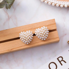 Brincos Para As Mulheres Alloy Brincos Earing Earings Brinco Women Promotion 2019 New Pearl Heart Earrings Fashion Temperament
